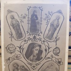 Fotografía antigua: ANTIGUA FOTOGRAFIA RELIGIOSA TARJETA POSTAL MURCIA 1917 RARA. Lote 170090488