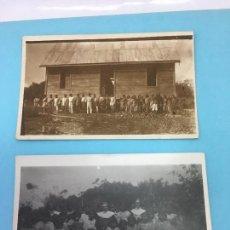 Fotografía antigua: 2 FOTOGRAFIAS DE LA MISION DE SAN JOSE DE AMACURO - 1939 - DELTA DEL ORINOCO, FRONTERA CON GUAYANA. Lote 170378280