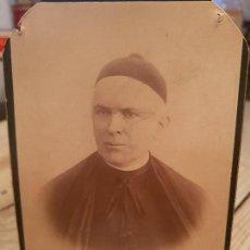 Fotografía antigua: ANTIGUA FOTOGRAFIA RELIGIOSA CURA SACERDOTE RIBERA MURCIA. Lote 170454096