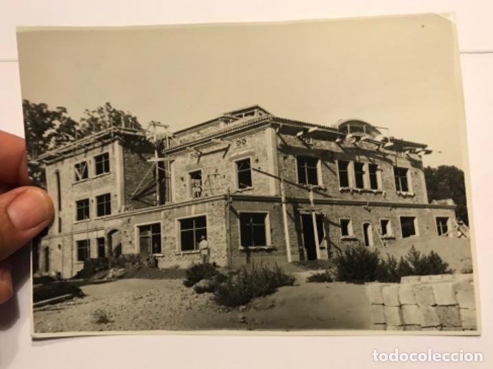 INTERESANTE FOTOGRAFIA ORIGINAL DE BALAGUER (LLEIDA) - CONSTRUCCION INSTITUTO BACHILLER - VER FOTOS (Fotografía Antigua - Tarjeta Postal)