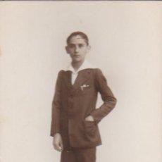 Fotografía antigua: ANTIGUA FOTO TARJETA POSTAL RETRATO DE JOVEN MUCHACHO. FOTÓGRAFO DERREY VALENCIA 1926 AA. Lote 171165555