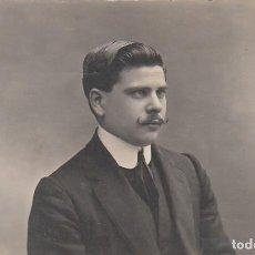 Fotografía antigua: DERREY VALENCIA RETRATO JOVEN CABALLERO. FOTO TARJETA POSTAL 1910 AA. Lote 171296623