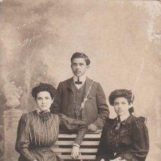 Fotografía antigua: DERREY VALENCIA FANTÁSTICO RETRATO DE FAMILIA. FOTO TARJETA POSTAL 1905 AA. Lote 171303737
