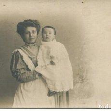 Fotografía antigua: MADRID-AMA DE CRÍA-NODRIZA- ANTIGUA FOTO CELEDONIO P. LÓPEZ- 1908. Lote 171316414