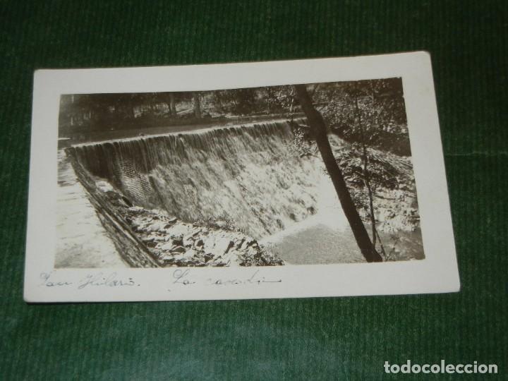 ANTIGUA FOTOGRAFIA SAN HILARIO LA CASCADA (SANT HILARI SACALM) (Fotografía Antigua - Tarjeta Postal)