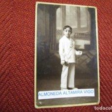 Fotografía antigua: GALICIA FOTOGRAFIAS DE ' PINTOS ' PONTEVEDRA - PRIMERA COMUNION, 14X9CM + INFO 1S. Lote 171614475