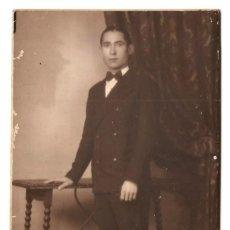 Fotografía antigua: RETRATO DE UN HOMBRE - FOTOGRAFÍA FOTO STUDIO ALEMÁN R. BLÀSKE - BARCELONA. Lote 172065744
