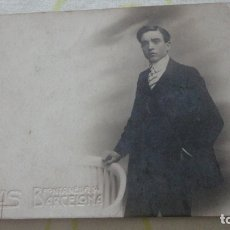 Fotografía antigua: ANTIGUA FOTOGRAFIA DE CHICO.MARIANO.FOTO BANUS.BARCELONA 1910. Lote 172105489