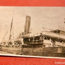 Fotografía antigua: NAVIO OCEANICO 1900 FOTO POSTAL BARCO A VAPOR DESTINO AMERICA ( VIGO?. Lote 172431792