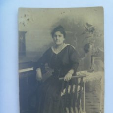 Fotografía antigua: PRECIOSA FOTO DE ESTUDIO DE BELLA SEÑORITA , PRINCIPIOS DE SIGLO.. Lote 172585393