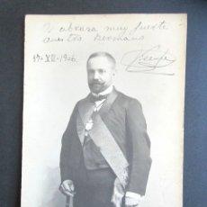 Fotografía antigua: AÑO 1906. ANTIGUA FOTOGRAFÍA RETRATO ABOGADO DEL ESTADO. FOTÓGRAFO ESCOLÁ. PASEO 26, ZARAGOZA. . Lote 172780590