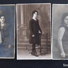 Fotografía antigua: TRES FOTOGRAFÍAS ANTIGUAS DE MUJERES - FOTÓGRAFOS BOLDUN, GILARDI Y F. PAVÍA (VALENCIA). Lote 172831404