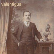 Fotografía antigua: ANTIGUA FOTO TARJETA POSTAL FANTÁSTICO RETRATO DE CABALLERO. FOTÓGRAFO MATRAN, CARTAGENA 10S FF. Lote 173838074