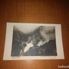 Fotografía antigua: ANTIGUA POSTAL DEL MONASTERIO DE MONTSERRAT. Lote 173873919