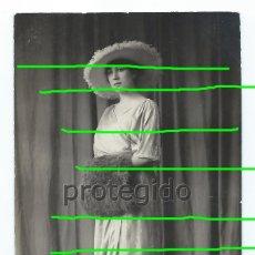 Fotografía antigua: RETRATO FEMENINO. TOTANA, MURCIA. FOTÓGRAFO J. MATRÁN. ÁGUILAS Y CARTAGENA, MURCIA.. Lote 174109720