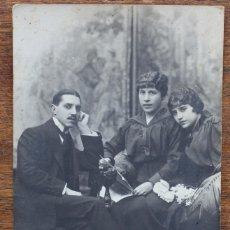 Fotografía antigua: ANT Y EMILIO NAPOLEÓN RAMBLA BARCELONA-TIA JUSTA, CON SUS HIJOS ESTEBAN Y ANTONITA. Lote 174218994