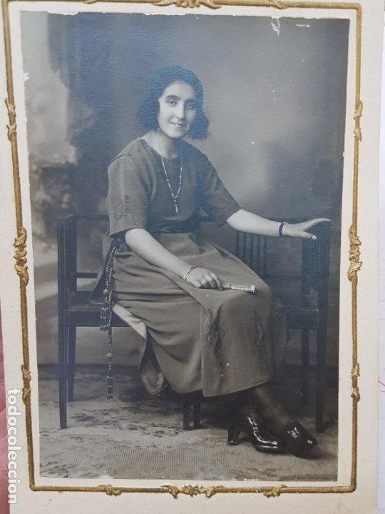 FOTOGRAFÍA ANTIGUA-POSADO DE ESTUDIO-BERINGOLA MADRID 1922 SELLADA (Fotografía Antigua - Tarjeta Postal)