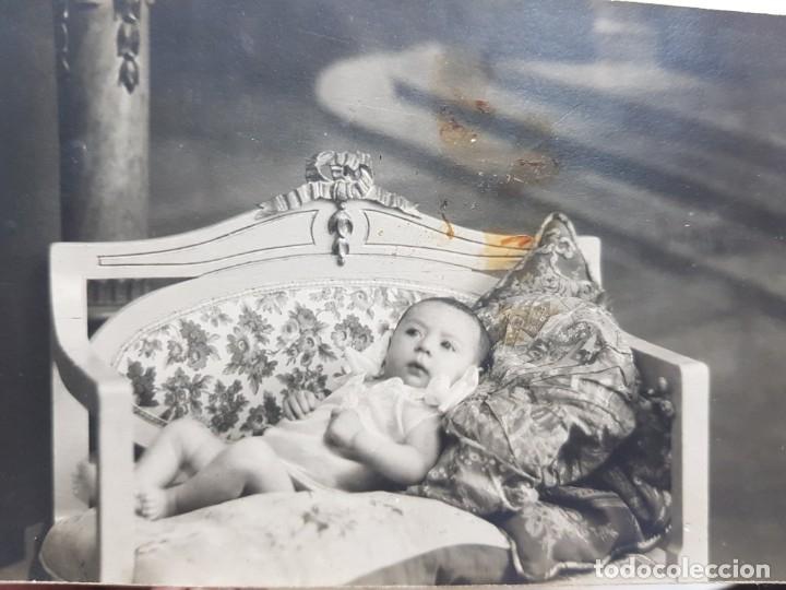 FOTOGRAFÍA ANTIGUA-POSADO DE ESTUDIO-1925 SELLADA (Fotografía Antigua - Tarjeta Postal)