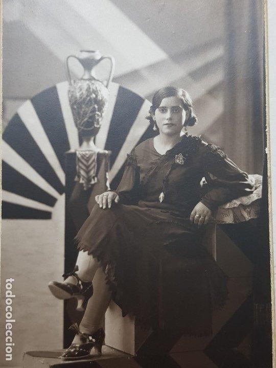 FOTOGRAFÍA ANTIGUA-POSADO DE ESTUDIO-FOTO STUDIO ALCOY 1932 (Fotografía Antigua - Tarjeta Postal)