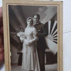 Fotografía antigua: FOTOGRAFÍA ANTIGUA-POSADO DE ESTUDIO-FOTO STUDIO ALCOY AÑO 1932 SELLADA . Lote 174603447