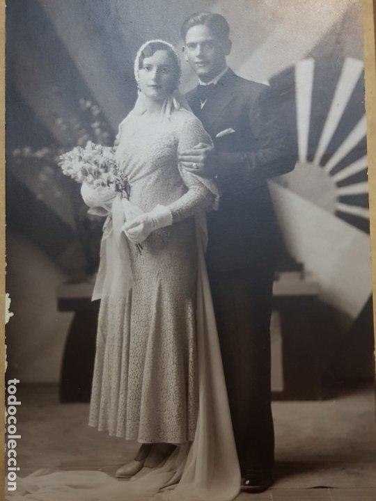 Fotografía antigua: Fotografía Antigua-Posado de Estudio-Foto Studio Alcoy año 1932 sellada - Foto 2 - 174603447