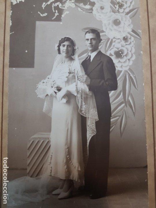 Fotografía antigua: Fotografía Antigua-Posado de Estudio-Foto Studio Alcoy año 1934 sellada - Foto 2 - 174605799
