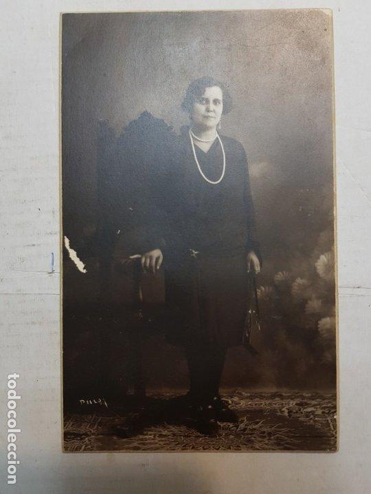Fotografía antigua: Fotografía Antigua-Posado de Estudio- Matarredona años 1910 sellada - Foto 3 - 174609784