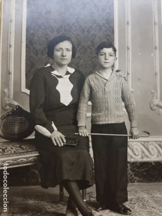 FOTOGRAFÍA ANTIGUA-POSADO DE ESTUDIO- MATARREDONA AÑOS 1910 SELLADA (Fotografía Antigua - Tarjeta Postal)