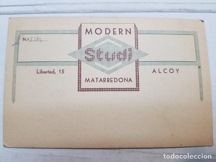 Fotografía antigua: Fotografía Antigua-Posado de Estudio- Matarredona años 1910 sellada - Foto 3 - 174611507
