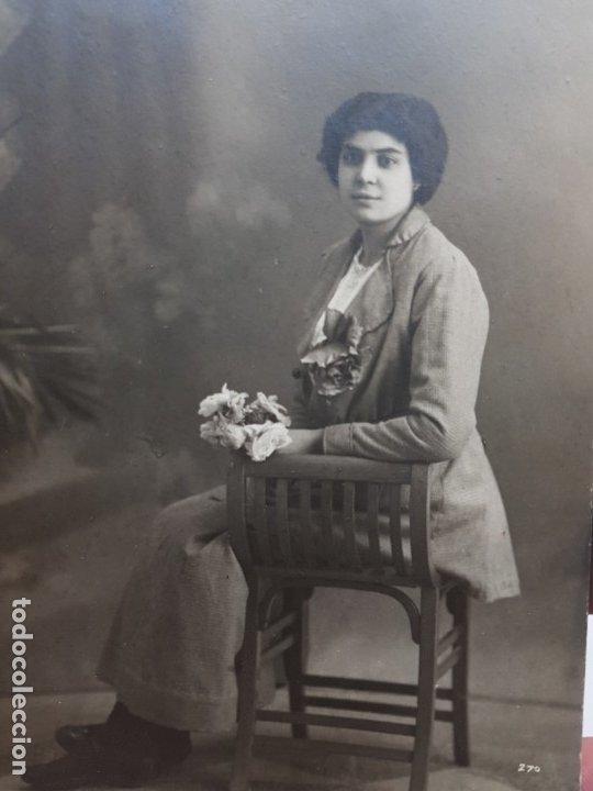 FOTOGRAFÍA ANTIGUA-POSADO DE ESTUDIO- MATARREDONA AÑOS 1916 SELLADA (Fotografía Antigua - Tarjeta Postal)