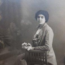 Fotografía antigua: FOTOGRAFÍA ANTIGUA-POSADO DE ESTUDIO- MATARREDONA AÑOS 1916 SELLADA . Lote 174614363