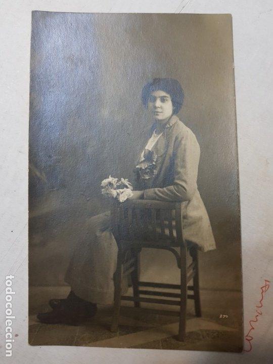 Fotografía antigua: Fotografía Antigua-Posado de Estudio- Matarredona años 1916 sellada - Foto 2 - 174614363