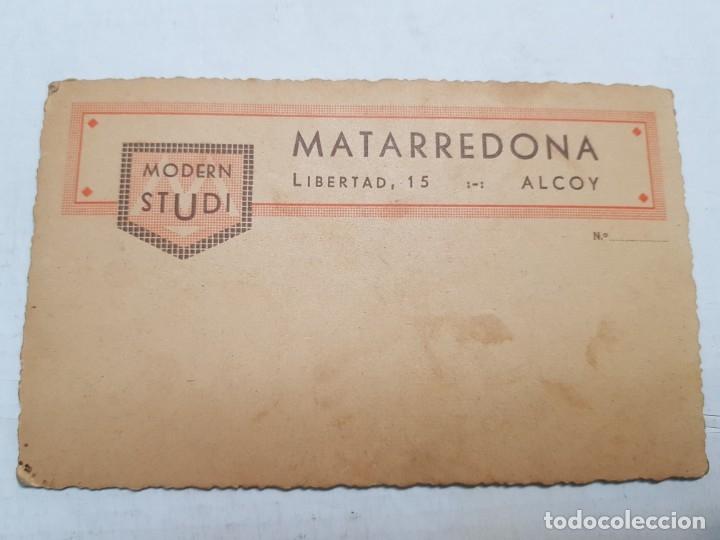 Fotografía antigua: Fotografía Antigua-Posado de Estudio- Matarredona años 1910 sellada - Foto 3 - 174615569