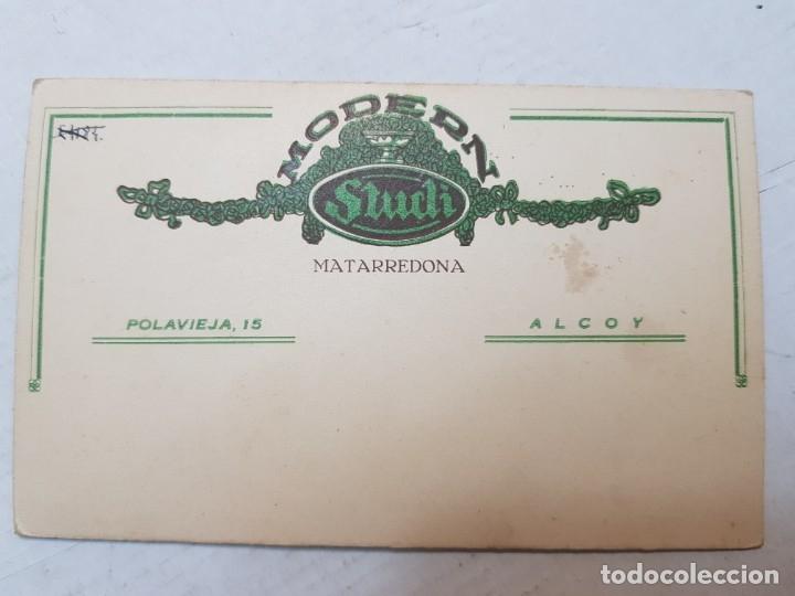 Fotografía antigua: Fotografía Antigua-Posado de Estudio- Matarredona años 1910 sellada - Foto 3 - 174618148