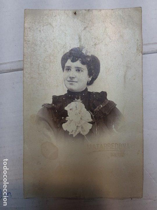 Fotografía antigua: Fotografía Antigua-Posado de Estudio- Matarredona años 1910 sellada - Foto 2 - 174619492