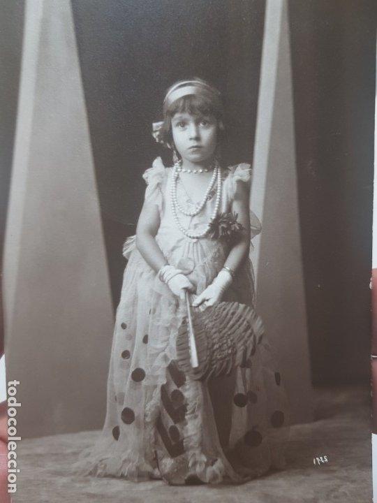 FOTOGRAFÍA POSTAL ANTIGUA-POSADO DE ESTUDIO-ALCOY FOTO-SOMBRAS PALACIO (Fotografía Antigua - Tarjeta Postal)
