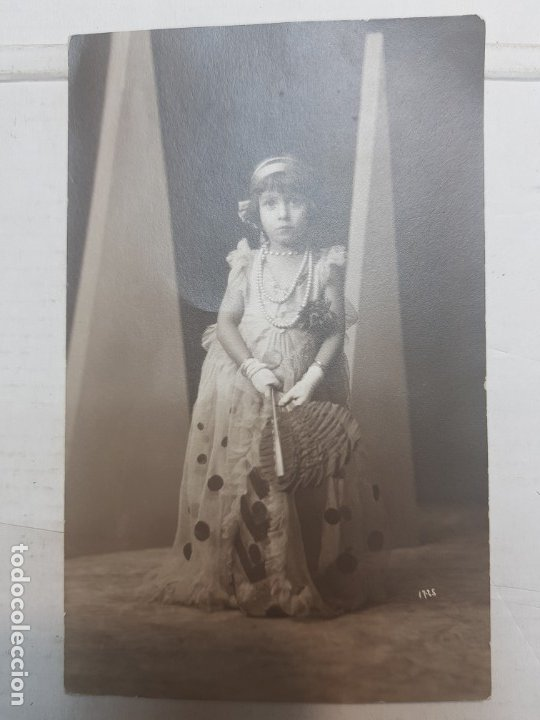 Fotografía antigua: Fotografía postal antigua-Posado de Estudio-Alcoy Foto-Sombras Palacio - Foto 3 - 174687957