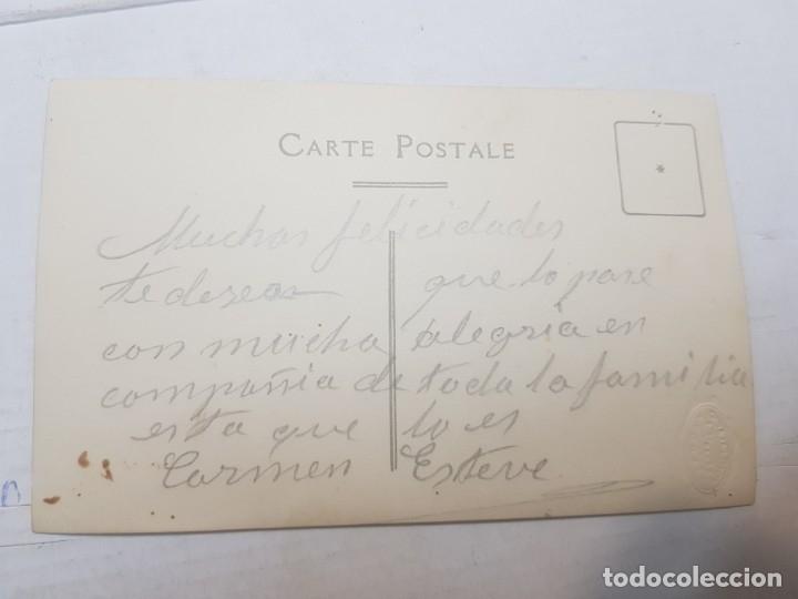 Fotografía antigua: Fotografía postal antigua-Posado de Estudio-Alcoy -Palacio- MUJER ENTRE CORTINAS - Foto 2 - 174689257