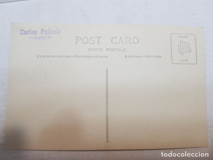 Fotografía antigua: Fotografía postal antigua-Posado de Estudio-Alcoy - Carlis Palacio- Familia años 1910 - Foto 3 - 174974590