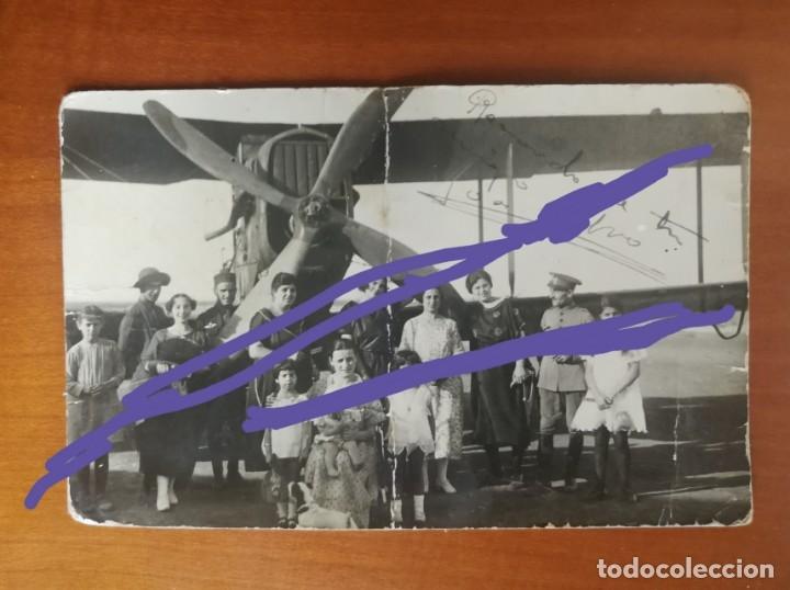 AVIACIÓN.ANTIGUA FOTOGRAFÍA POSTAL.AVIONETA O HIDRO-AVIÓN.MILITAR.EJÉRCITO DEL AIRE.MELILLA.AÑO 1922 (Fotografía Antigua - Tarjeta Postal)