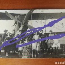 Fotografía antigua: AVIACIÓN.ANTIGUA FOTOGRAFÍA POSTAL.AVIONETA O HIDRO-AVIÓN.MILITAR.EJÉRCITO DEL AIRE.MELILLA.AÑO 1922. Lote 175412463