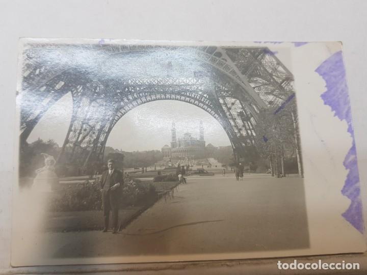 Fotografía antigua: Fotografía tarjeta postal Españoles en el exilio Francia lote 7 - Foto 3 - 175459158
