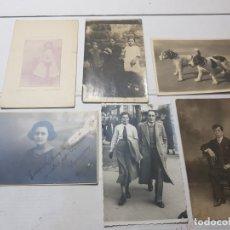 Fotografía antigua: FOTOGRAFÍA TARJETA POSTAL LOTE 6 ALGUNAS SELLADAS AÑOS 20-30. Lote 175459689