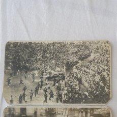 Fotografía antigua: DOS ANTIGUAS FOTOGRAFIAS.ENCIERROS SAN FERMIN.PAMPLONA AÑOS 30?. Lote 175482388