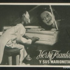 Fotografía antigua: AUTÓGRAFO *HERTA FRANKEL* COMPAÑÍA VIENESA KAPS Y JOHAM. FOTO ANÓNIMA. MEDS: 87X138 MMS.. Lote 175537804
