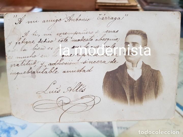 ANTIGUA FOTOGRAFIA TARJETA POSTAL LUIS ALTES ARENYS DE MAR (Fotografía Antigua - Tarjeta Postal)