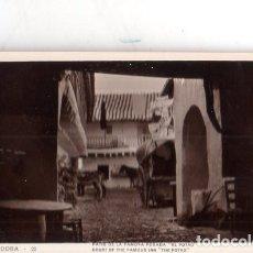 Fotografía antigua: TARJETA POSTAL FOTOGRAFICA. FOTO GODES. CORDOBA. PATIO DE LA FAMOSA POSADA. EL POTRO.. Lote 175673340
