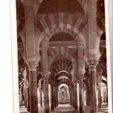 Fotografía antigua: TARJETA POSTAL FOTOGRAFICA. FOTO GODES. CORDOBA. UNA NAVE DE LA MEZQUITA.. Lote 175673719