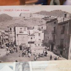 Fotografía antigua: ANTIGUA POSTAL CALLE DE LOACES ORIHUELA ALICANTE ANDRES FABERT. Lote 175825049