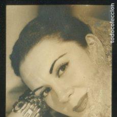 Photographie ancienne: AUTÓGRAFO *AURÉLIA BALLESTA* FOTO ANÓNIMA. MEDS: 86X135 MMS.. Lote 175966315